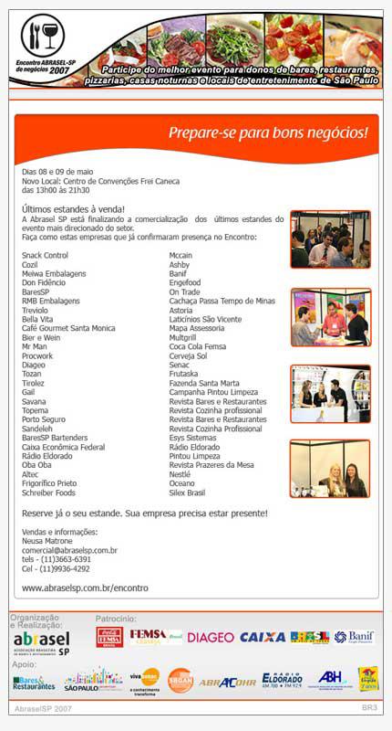 E-mail marketing Encontro de Negócios Abrasel 2007