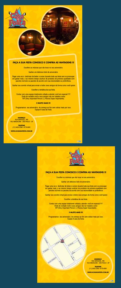 E-mail marketing de aniversário A Casa da Festa