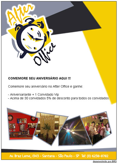 E-Mail Marketing de Aniversário After Office