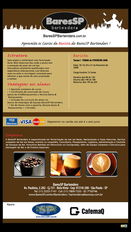 E-mail marketing BSP Bartenders - Barista Br3 Site sites cases image