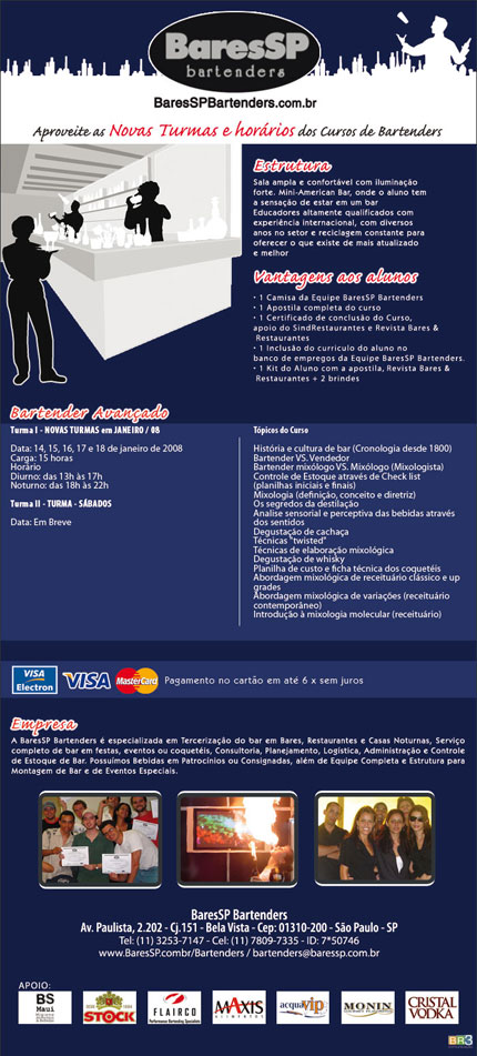 E-mail marketing BSP Bartenders - Curso Avançado Br3 Site sites cases image