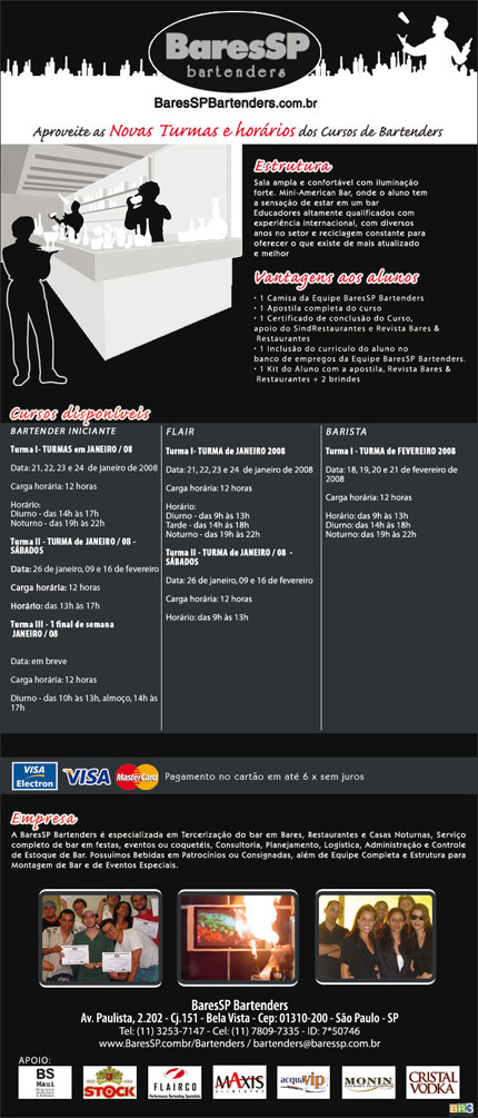 E-mail marketing BSP Bartenders - Cursos