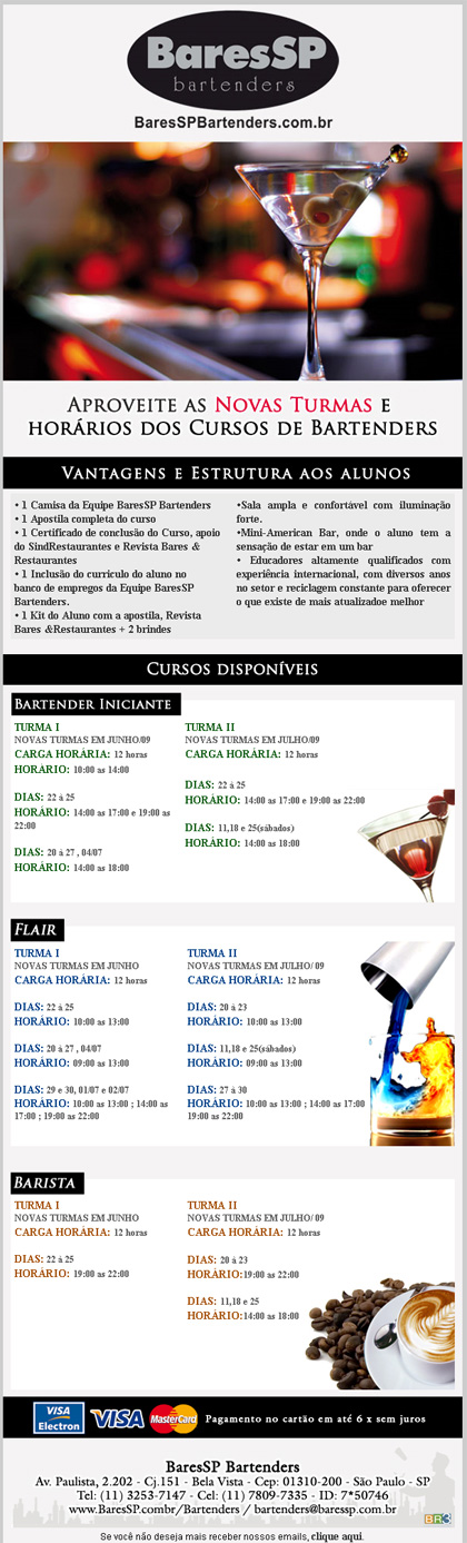 E-mail marketing BaresSPBartenders - Curso Br3 Site sites cases image