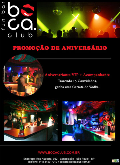 E-mail marketing de aniversário - Boca Club Br3 Site sites cases image