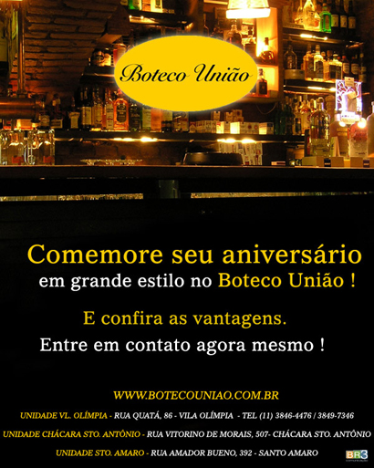 E-mail marketing de aniversário Boteco União