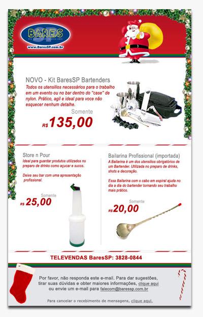 Cartão de Natal da Loja  - BaresSP