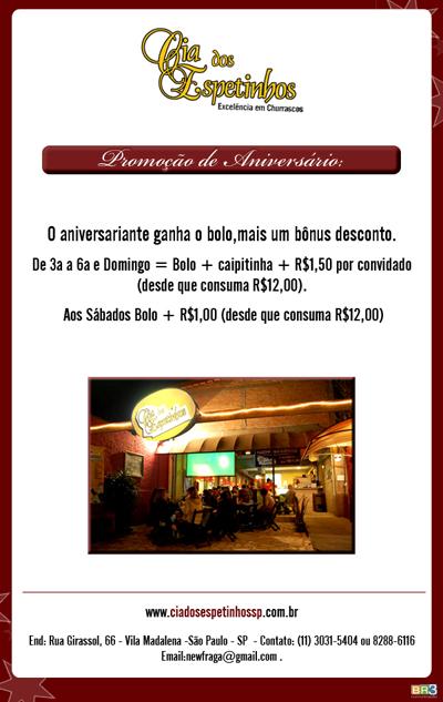 E-mail marketing de aniversário Cia dos Espetinhos Br3 Site sites cases image