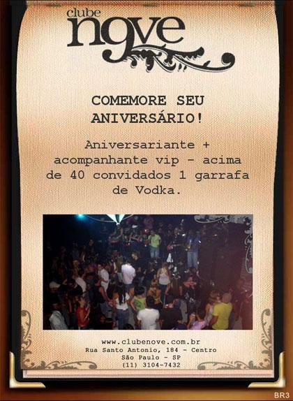E-mai marketing de Aniversário Clube Nove Br3 Site sites cases image