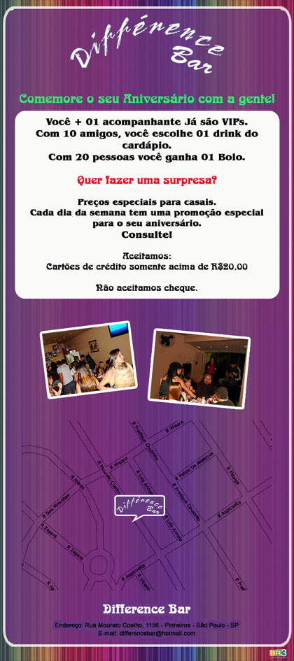 E-mail marketing de aniversário Difference Bar