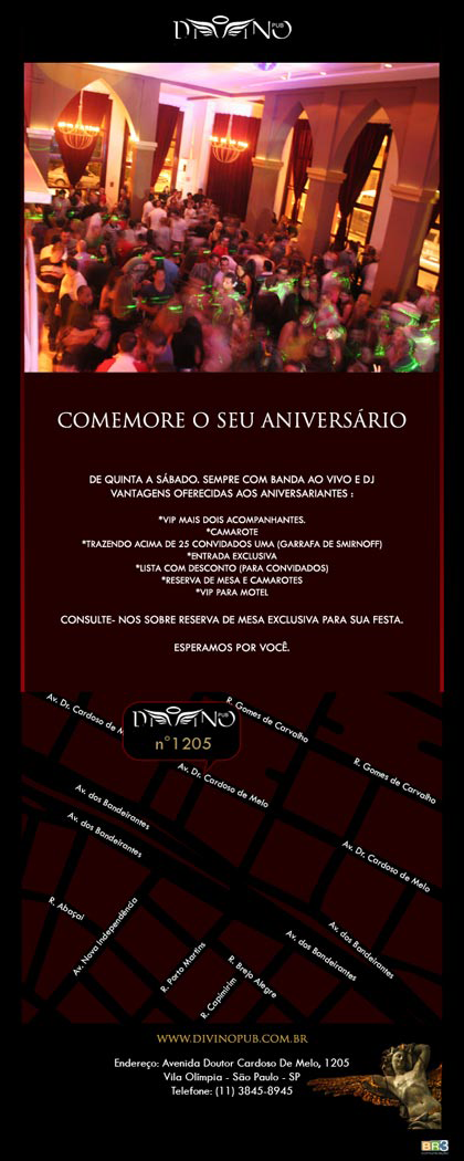 E-mail marketing de aniversário Divino Club