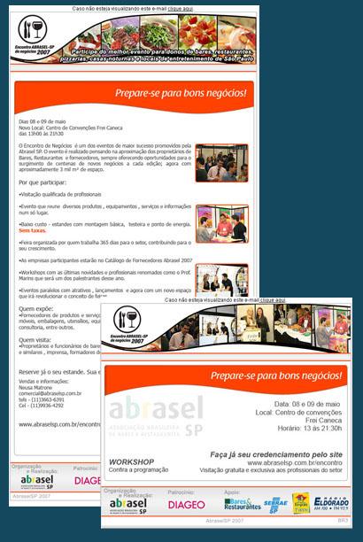E-mails marketings Encontro Abrasel de Negócios Br3 Site sites cases image