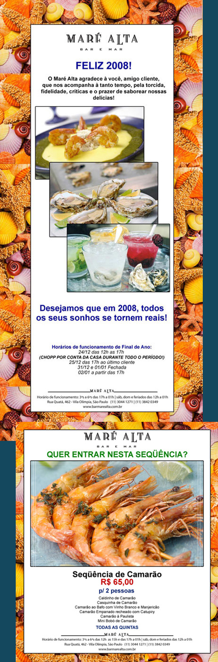 E-mail marketing Borda Conchas Maré Alta