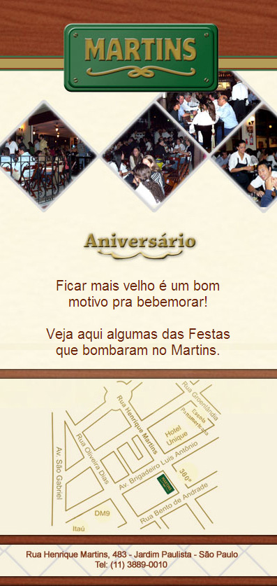 E-mail marketing de aniversário Bar Martins