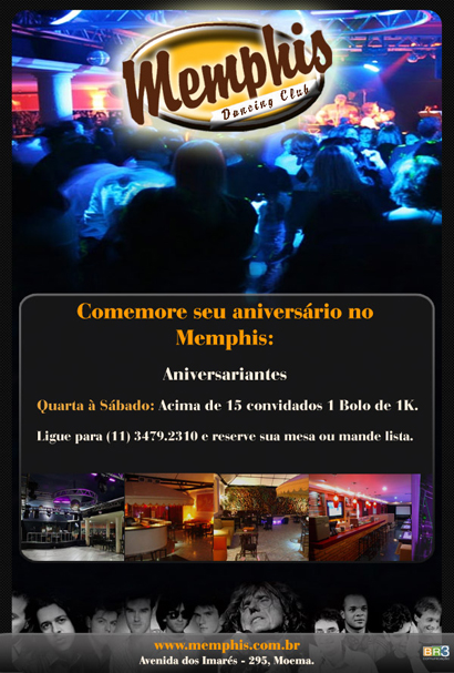 E-mail marketing de aniversário Memphis