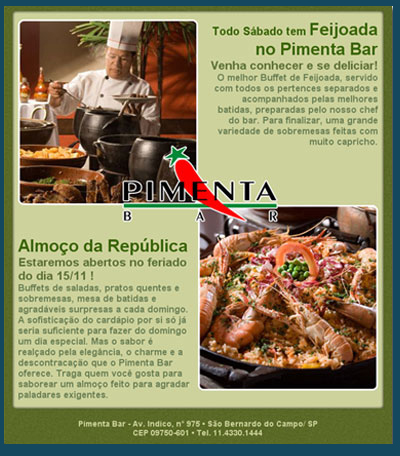 E-Mail Marketing Pimenta Bar