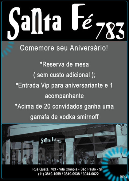 E-mail marketing de  aniversário Santa Fé