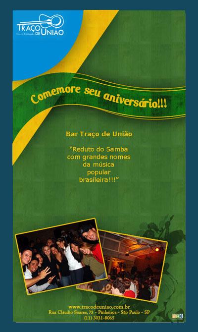 E-mail marketing de aniversário Traço de União Br3 Site sites cases image