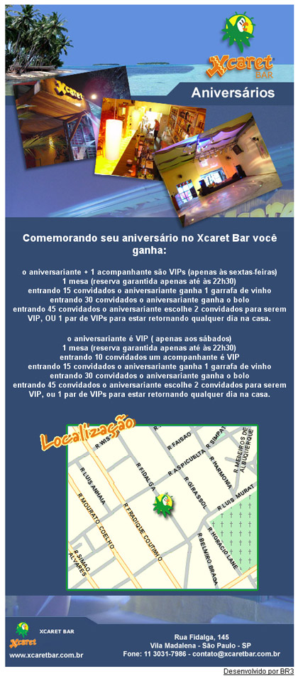 E-mail marketing de Aniversário Xcaret Br3 Site sites cases image