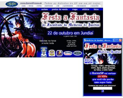 Hot Site  da Festa a Fantasia da Medicina de Jundiaí