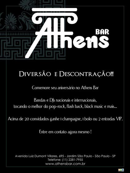 E-mail marketing de aniversário Athens