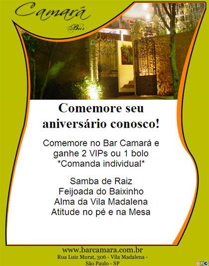 E-mail marketing de aniversário Camará