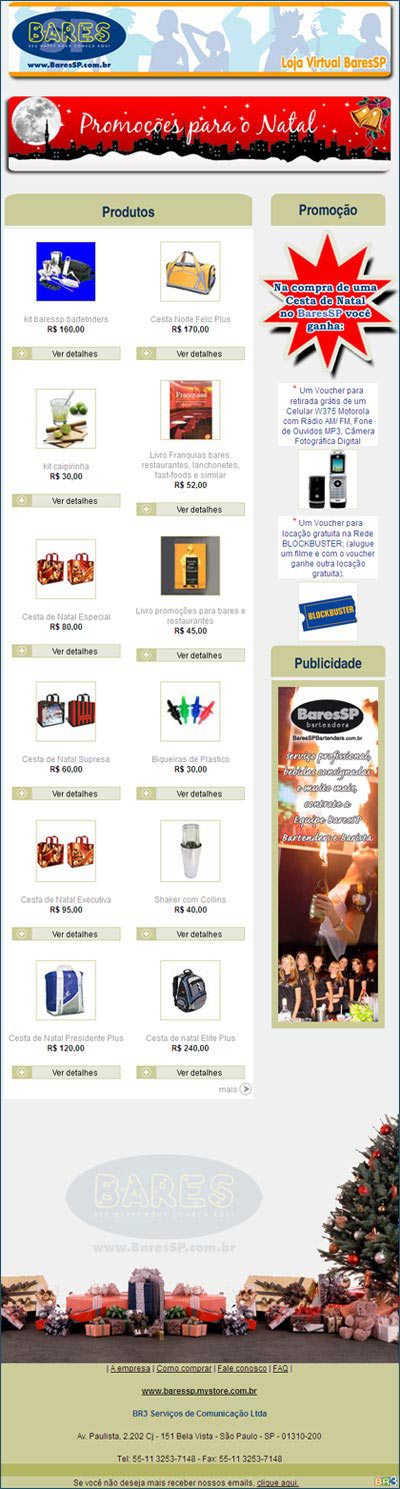 E-mail marketing de Produtos - BaresSP Br3 Site sites cases image