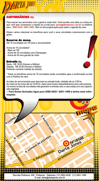 E-mail marketing de aniversário Darta Jones