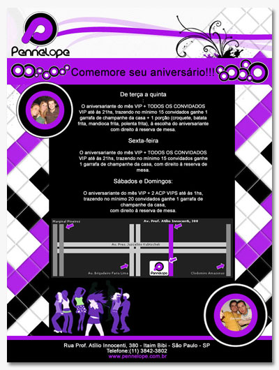 Novo E-mail marketing de aniversário Pennélope Br3 Site sites cases image