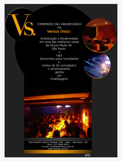 E-mail marketing de aniversário Versus Disco