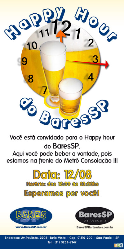 Convite virtual Happy Hour BaresSP