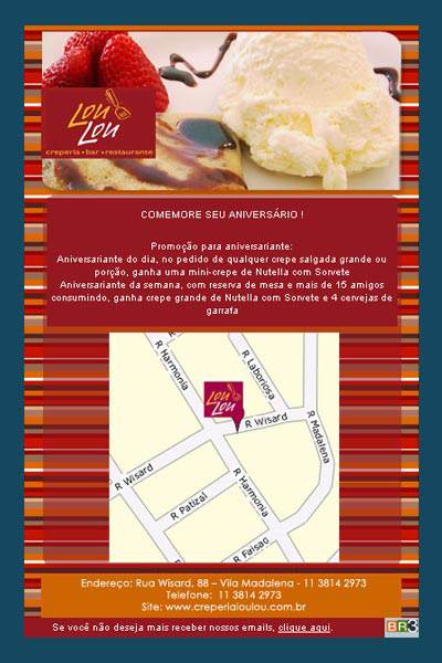 E-mail marketing de aniversário Creperia Lou Lou Br3 Site sites cases image