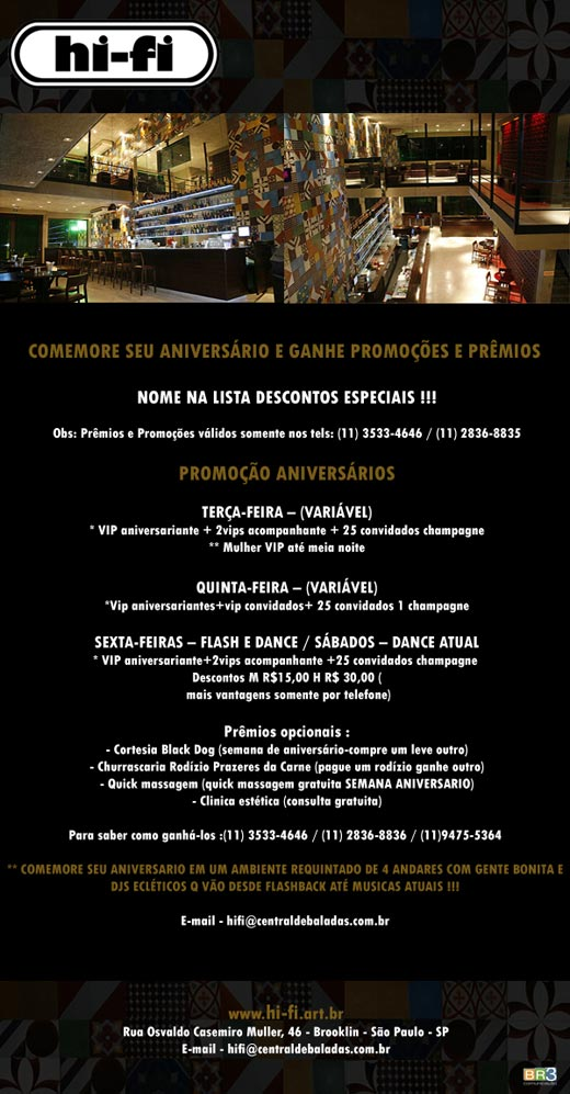 E-mail marketing de aniversário Hi-Fi Br3 Site sites cases image