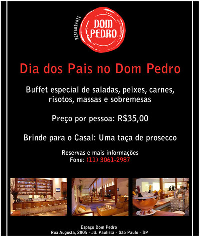 E-mail marketing Dom Pedro Restaurante
