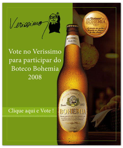 E-mail marketing Verissimo Bar - Boteco Bohemia 2008.