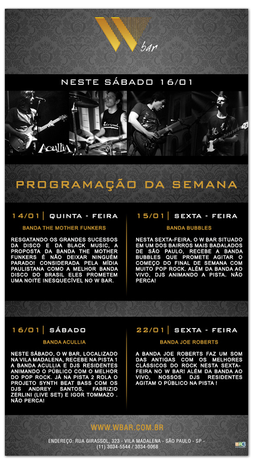 E-mail marketing promocional W Bar Br3 Site sites cases image
