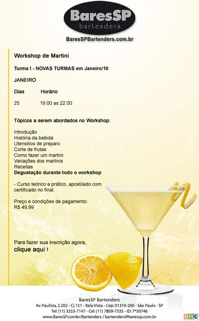 E-mail marketing Bartenders – Workshop de Martini