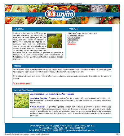 E-mail Marketing União Hortifruti Br3 Site sites cases image