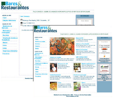 Site Revista Bares e Restaurantes