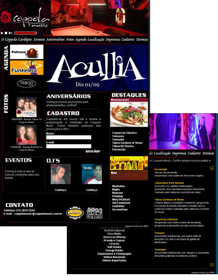 Novo site Coppola Music