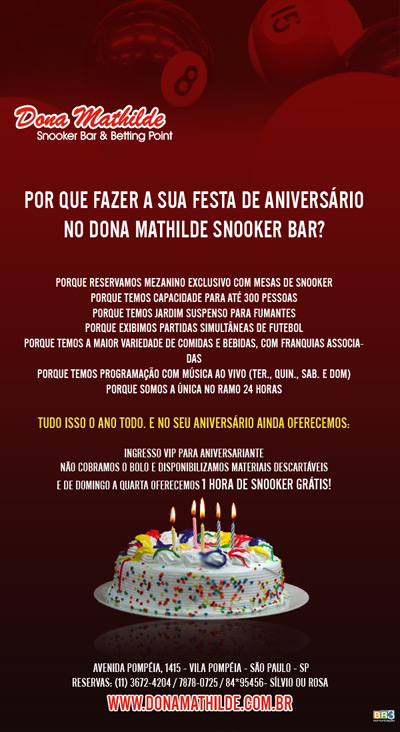 E-mail marketing de aniversário Dona Mathilde