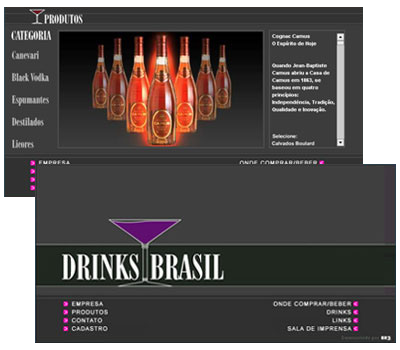 Site Drinks Brasil Br3 Site sites cases image