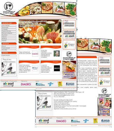Site Encontro de negócios da AbraselSP 2007