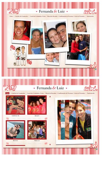 Hot Site Casamento Fernanda e Luiz
