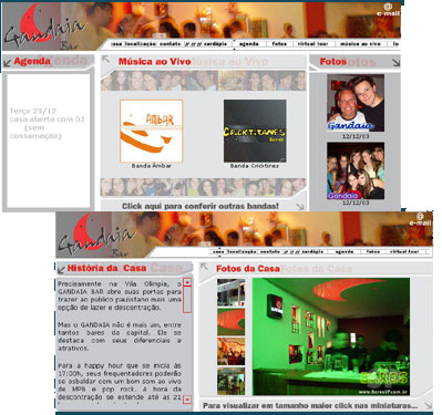Site do Gandaia Bar