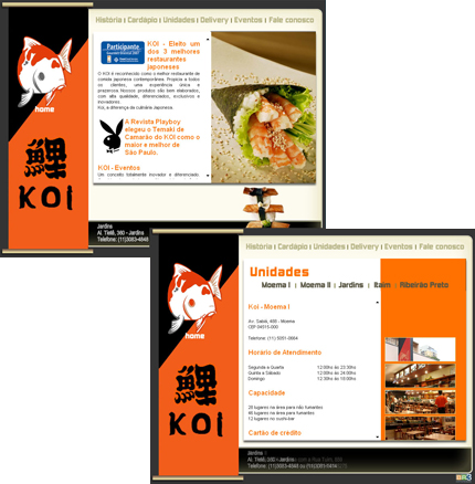 Site Restaurante KOI Br3 Site sites cases image