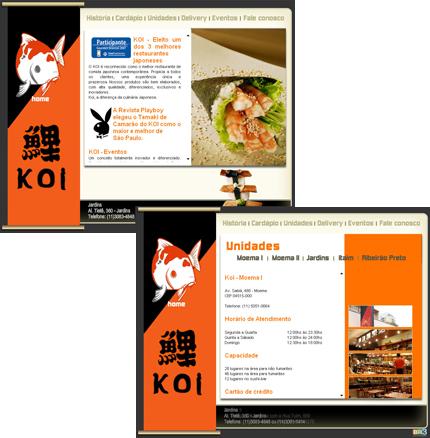Site Restaurante KOI