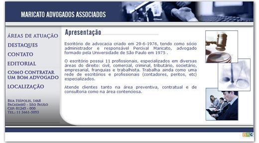 Site Maricato Advogados