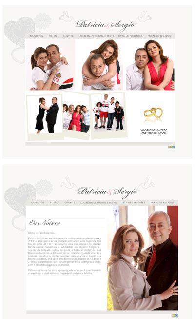 Hot Site Casamento Patrícia e Sergio