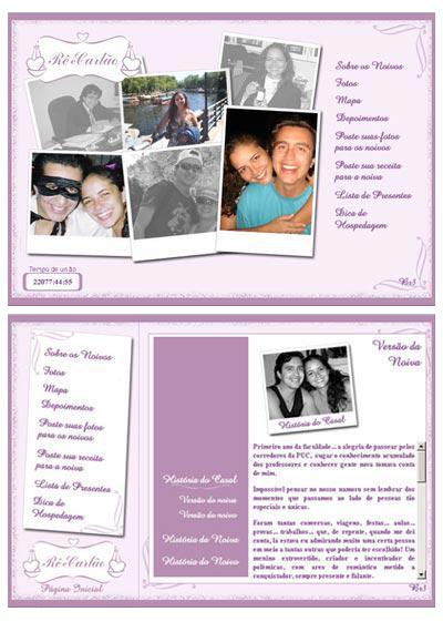 Hot Site Casamento Renata e Carlos
