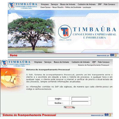 Site do Timbauba Br3 Site sites cases image